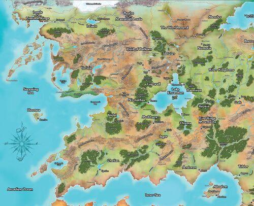 Elegant Varisia And The Northern Lands Map Edit