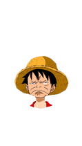 Disappointed Luffy