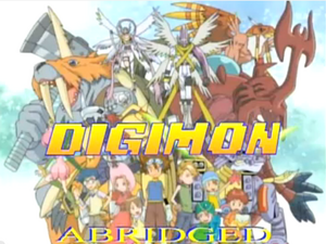 Digimon Koshimoro abridged title block
