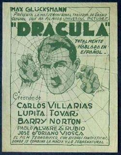 Dracula (Spanish) poster
