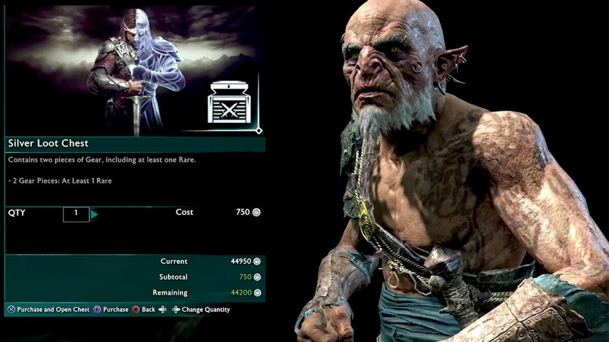 Shadow of War loot box legendary orc