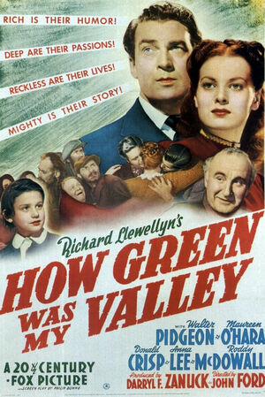 Poster - How Green Was My Valley 01