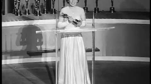 "Mercedes McCambridge winning Oscar for ""All the King's Men"""