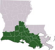 Acadiana parishes map