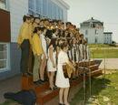 Chorale de jeunes à la Banque des fermiers de Rustico