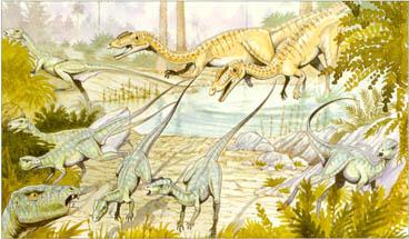 Heterodontosaurus-escaping at speed