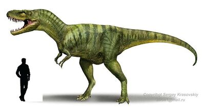 Albertosaurus a escala