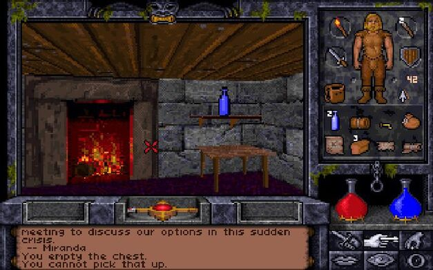 A screenshot of Ultima Underworld: The Stygian Abyss.