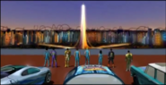 Admiring the view of hotwheels city 2