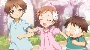 Taku, Chiyu y Haru