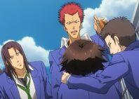 Araya molestando a Haru
