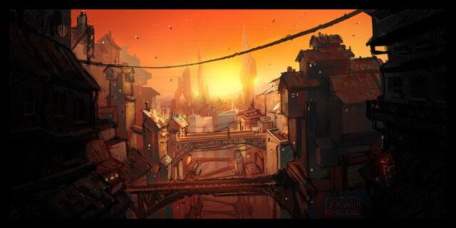 File:Sci Fi City Sunset 2 by UrbanMelon.jpg