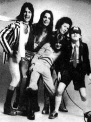 ACDC Rob Bailey Angus Young Malcolm Young Dave Evans Peter Clack