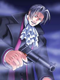 Edgeworth mit pistole