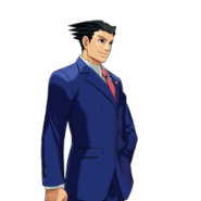 PXZ2 Phoenix Wright (full) - smiling (right)