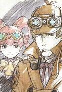 Sherlock Holmes and Iris Watson Ilustration