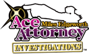 Ace Attorney Investigations- Miles Edgeworth logo