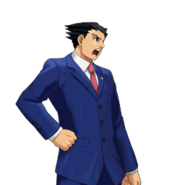 PXZ2 Phoenix Wright (full) - shouting (right)