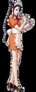 Mia in a waitress uniform