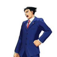 PXZ2 Phoenix Wright (full) - shouting (left)