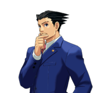 PXZ2 Phoenix Wright (zoom) - thinking (left)