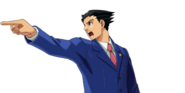 PXZ2 Phoenix Wright (zoom) - objecting (left)
