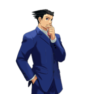 PXZ2 Phoenix Wright (full) - thinking (right)