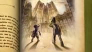 Layton and Luke in the book