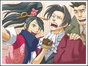 Kay, Edgeworth, and Gumshoe
