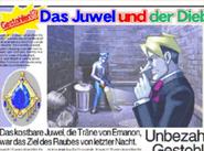 Newspaper about heist