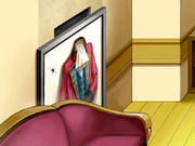 Edgeworth's Frame That Has A Gun Shot