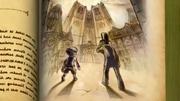 Layton und Luke in dem Buch