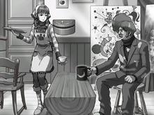 Vera serving coffee