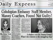 KG-8 Incident newspaper