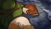 Viridian grabbing book