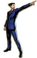 Phoenix Wright Modelo 3D en Marvel vs Capcom