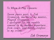Zak confession