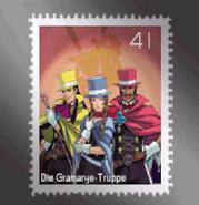 Gramrye truppe briefmarke