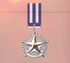 Ace x2 mp medal silver star of victory