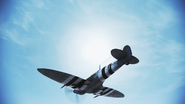 Spitfire FA flyby