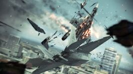 F-22 shooting down Su-33 over Miami