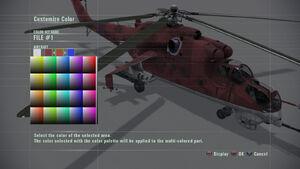 Mi-24 Hind Color Customization