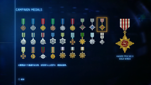 AC7 Campaign Medals Gold Ace