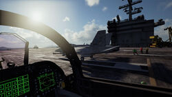 AC7 FA-18F Taking Off Aircraft Carrier