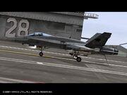 FA-18C landed