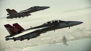 "FA-18F ""Red Devils"" Flyby 5"