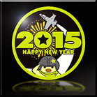 Happy New Year 2015 Emblem
