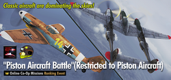 Piston Aircraft Battle (Aircraft Restricted Online Co-Op Missions) Event Banner
