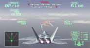 Ace Combat 5 Arcade Mode HUD