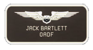 Jack Bartlett OADF insignia
